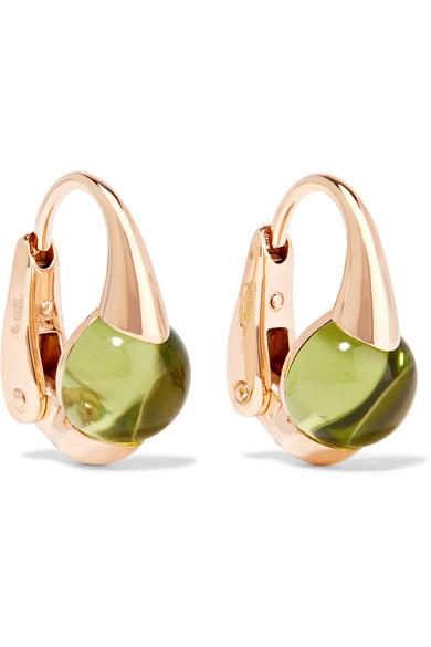 Pomellato M'Ama Non M'Ama 18-Karat Rose Gold Peridot Earrings