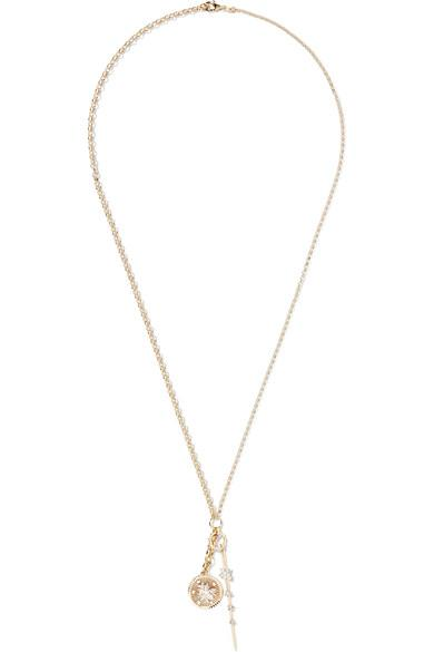 Foundrae Millie Fleur And Thorn 18-Karat Gold Diamond Necklace