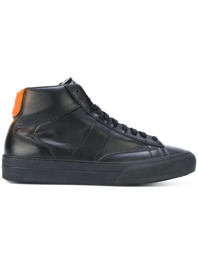 Maison Margiela Mid Black Leather Sneakers
