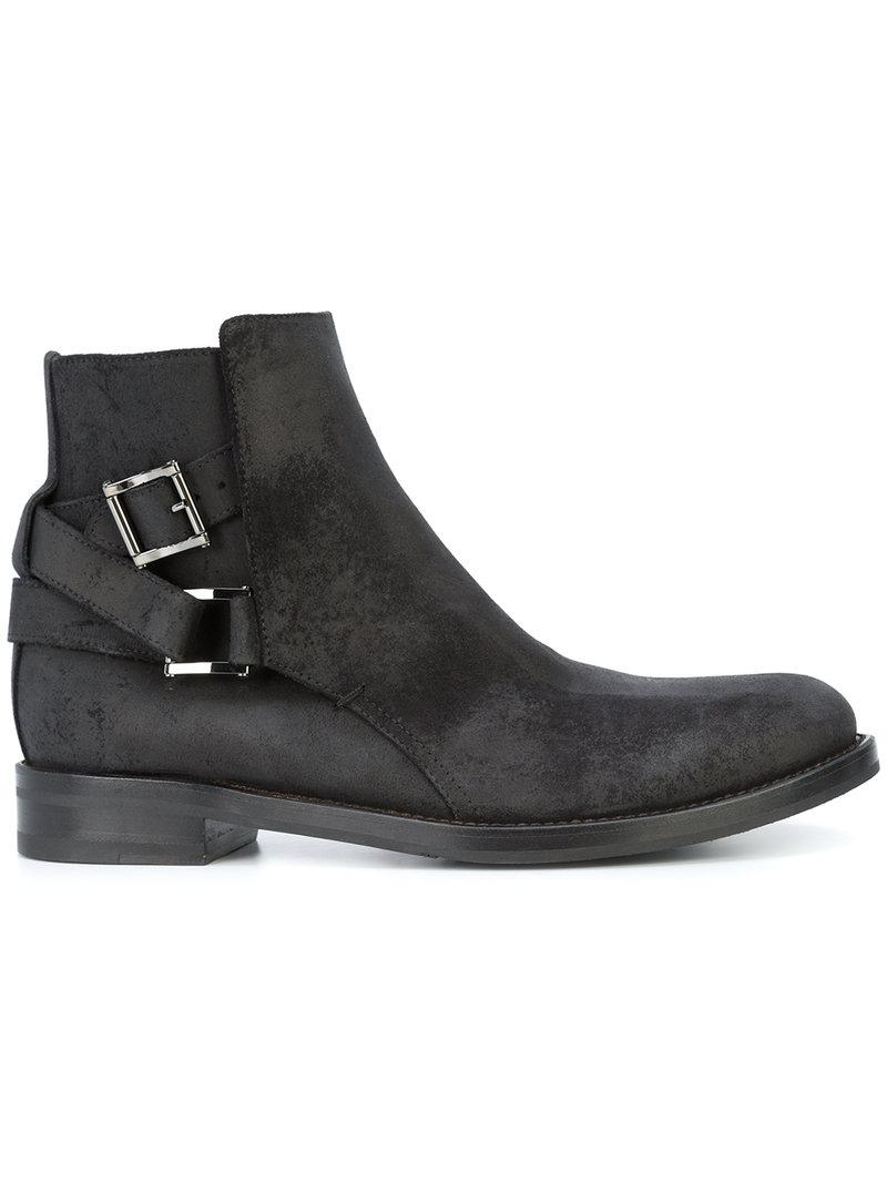 Paul Andrew Modena Waxed Suede Jodhpur Boots In Black