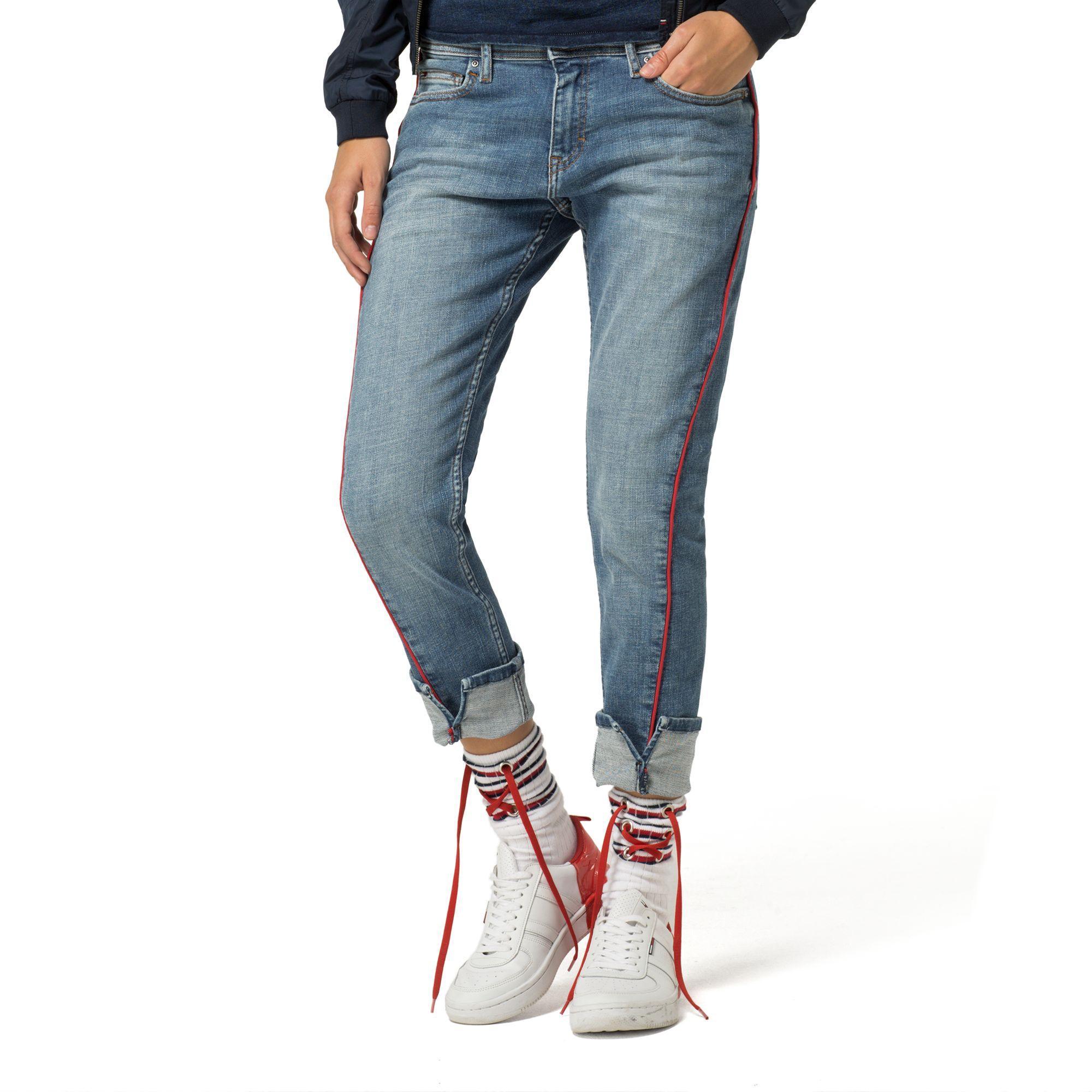 6d95170f8fce0 Tommy Hilfiger Twisted Straight Fit Jean - Cross Blue