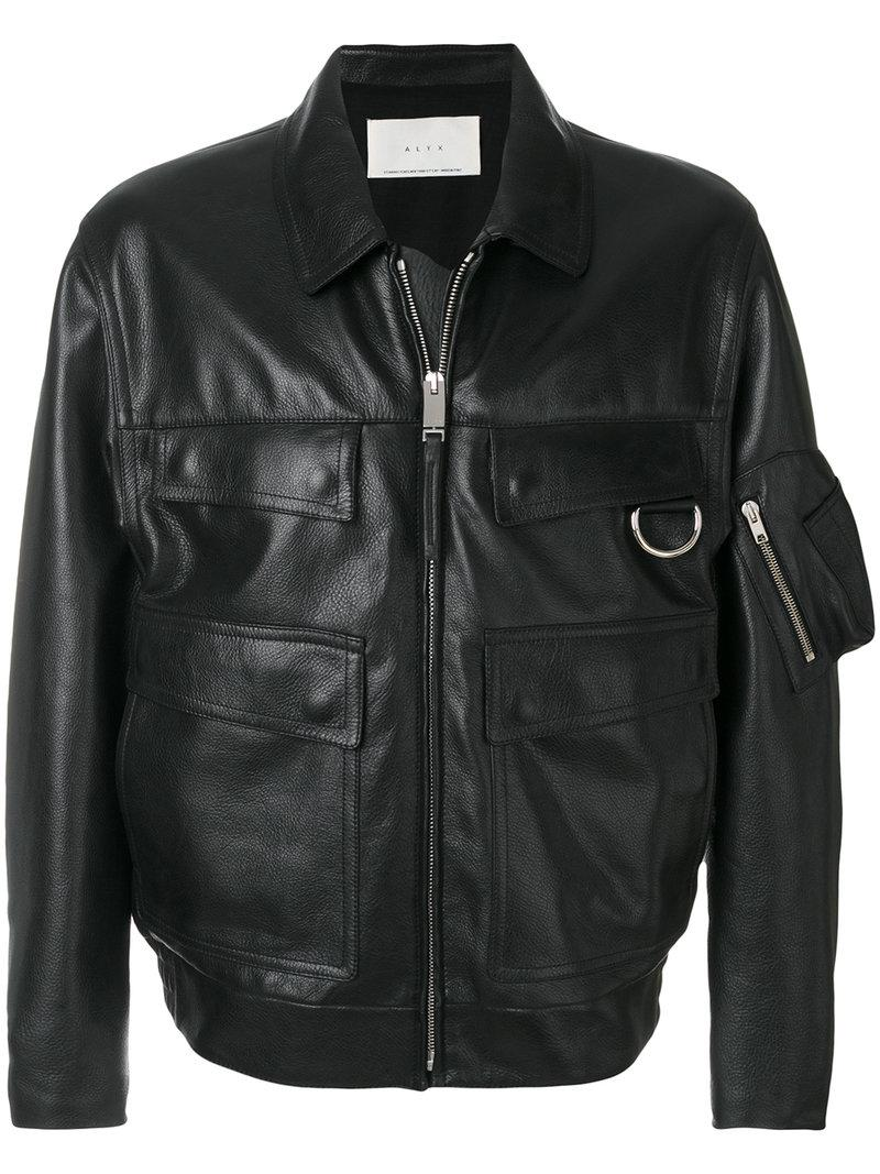 7b6084c8f88 Alyx Black Leather Police Jacket
