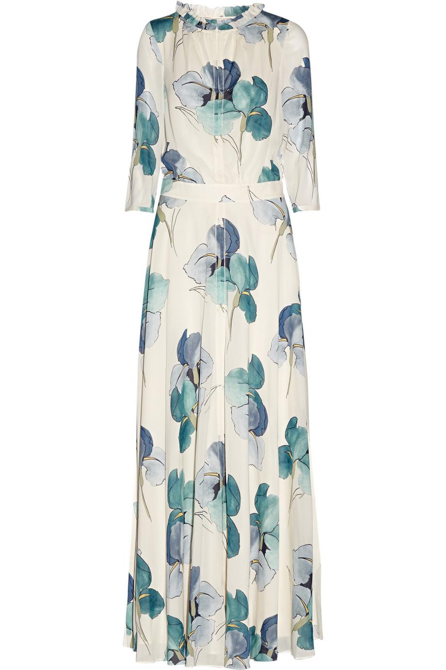 e880e83c65d4 Tory Burch Julia Floral-Print Stretch-Silk Georgette Maxi Dress ...