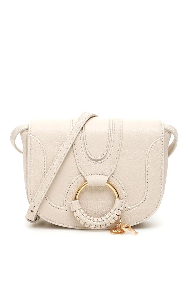 See By Chloé Hana Mini Leather Shoulder Bag In Beige