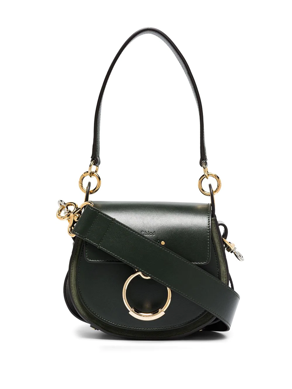 Chloé Small Tess Leather Bag In Green