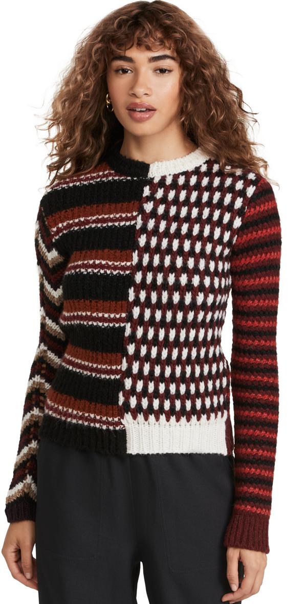 Marni Roundneck Sweater In Wine