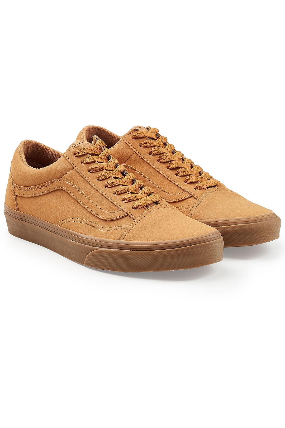 Old Skool Leather Sneakers In Camel