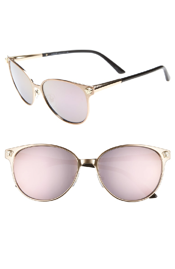 330e7656a7b Versace Glam Medusa 57Mm Cat Eye Sunglasses - Pink  Gold Mirror ...