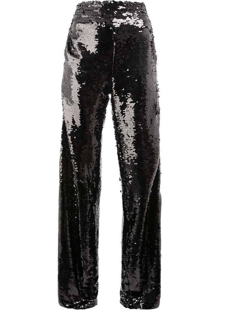 bc26ce6ec9 Faith Connexion X Kappa Sequin Embellished Trackpants In Black ...