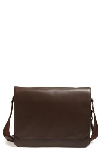 Vince Camuto 'Tolve' Leather Messenger Bag - Brown In Tmoro