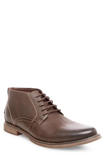 Steve Madden Pieter Leather Chukka Boot In Brown Leather