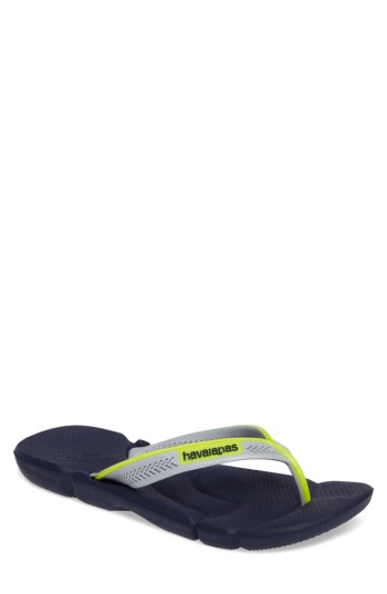 492a01d27 Havaianas  Power  Flip Flop In Navy Blue  Navy Blue  Ice Grey