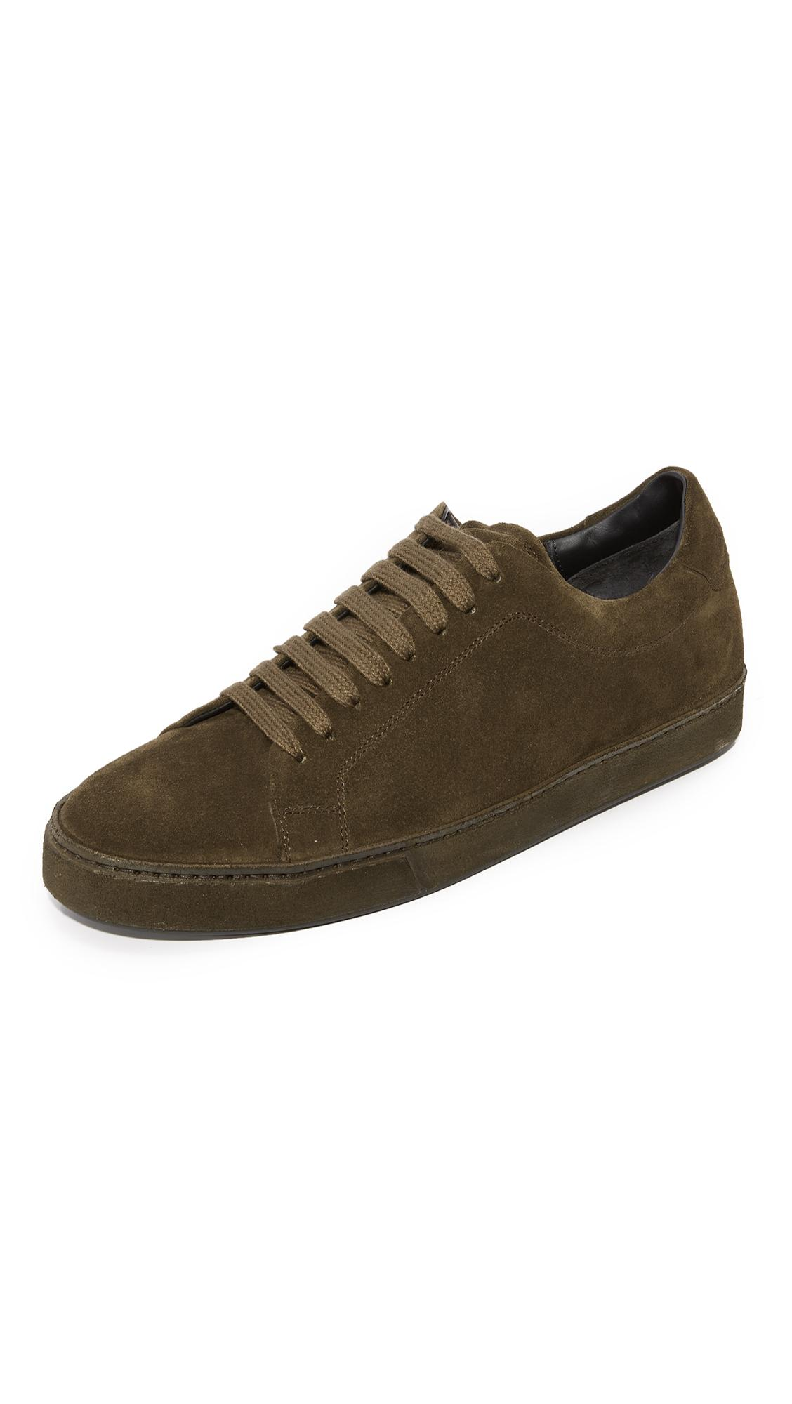 dd538bdc21ae0c Vince Men s Noble Suede Lace Up Sneakers In Dark Olive Suede