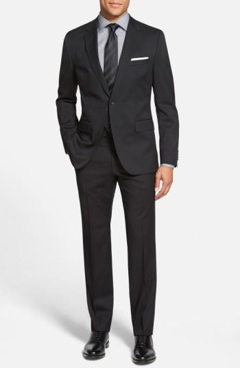 7c6c61d1b Boss Johnstons/Lenon Classic Fit Wool Suit In Black | ModeSens