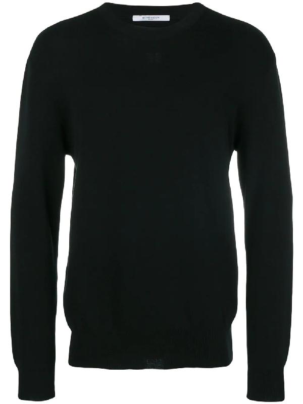 Givenchy Star-AppliquÉD Wool Sweater In Black