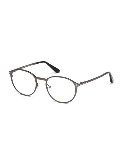 93e374428f88 Tom Ford Ophthalmic Round Optical Frames W/ Magnetic Sun Lenses In Dark Blue