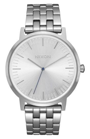Nixon Porter Bracelet Watch, 40mm In Silver