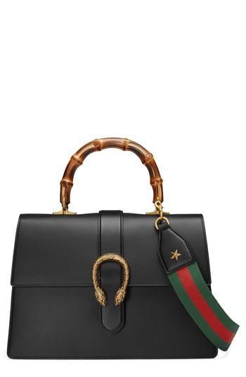 771967470d0 Gucci Large Dionysus Top Handle Leather Shoulder Bag - Black In Black  Leather