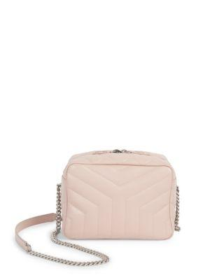 3fa8f3d0da07 Saint Laurent Small Loulou Leather Bowling Bag - Pink In Pale Pink ...