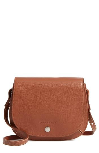 7e671b612a98 Longchamp Small Le Foulonne Leather Crossbody Bag - Brown In Cognac ...