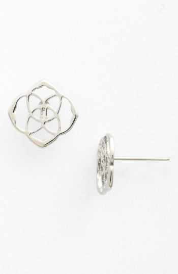 2cd348943 Kendra Scott 'Dira' Stud Earrings In Silver | ModeSens