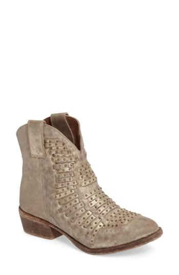 Matisse Foe Studded Bootie In Old Gold Leather