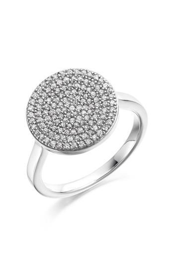 Monica Vinader 'ava' Diamond Disc Ring In Silver