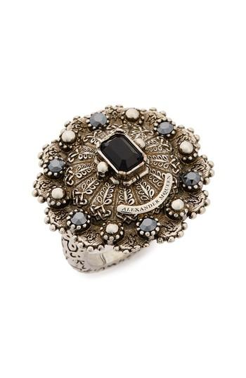 Alexander Mcqueen Jeweled Ring In Silver