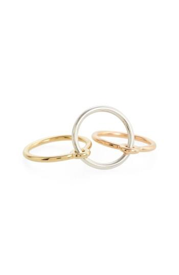 Charlotte Chesnais Three Lovers Linked Rings In Silver Yellow Pink
