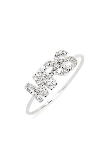 Ef Collection Mrs. Diamond Ring In White Gold