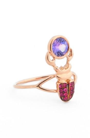 Daniela Villegas 'khepri' Sapphire Ring In Rose Gold/ Purple Sapphire