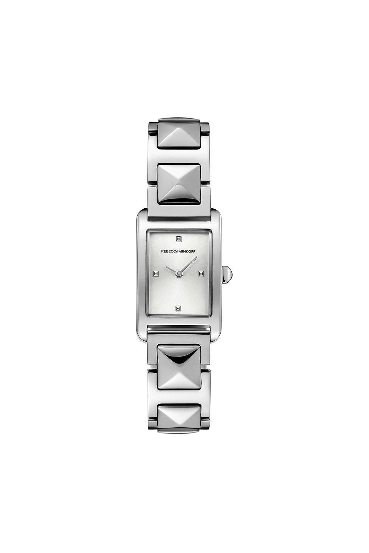 Rebecca Minkoff Moment Silver Tone Bracelet Watch, 19mm X 30mm