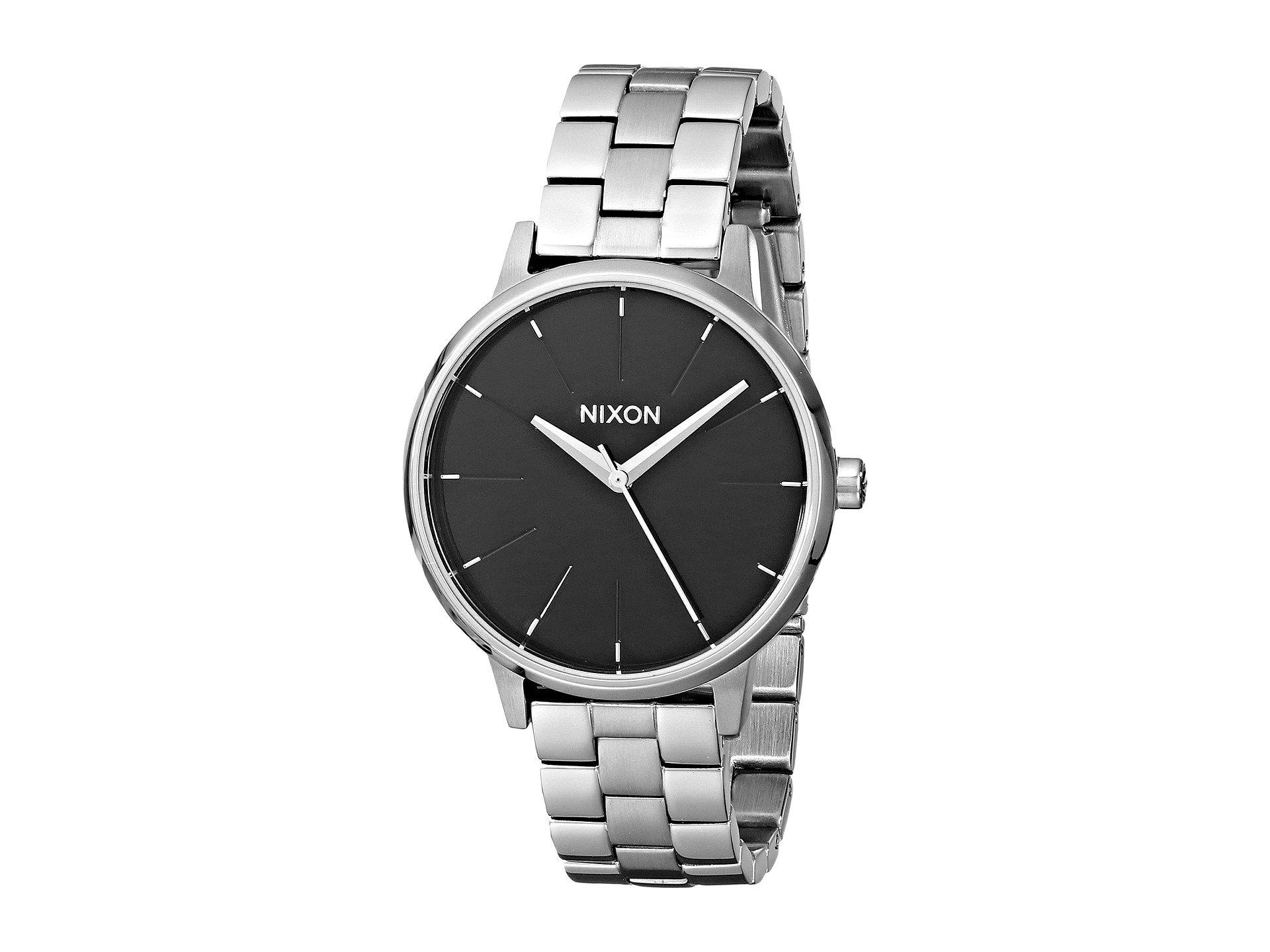 Nixon 'the Kensington' Bracelet Watch, 37mm In Silver/ Black/ Silver
