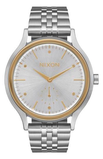 Nixon Sala Bracelet Watch, 38mm In Silver/ Gold