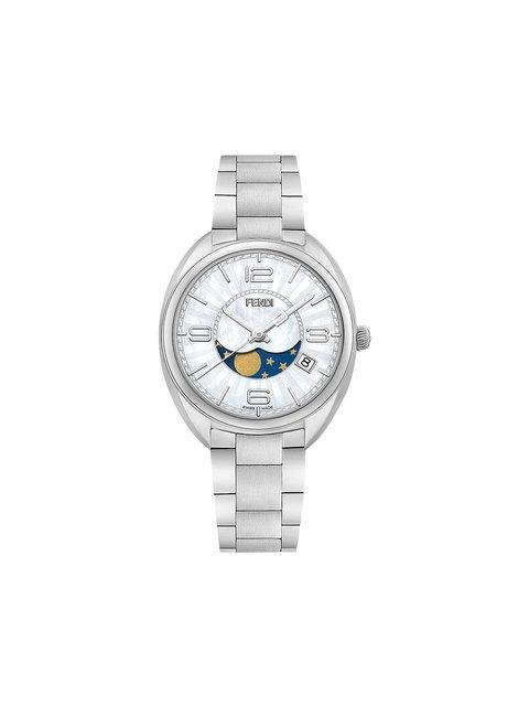 Fendi Momento Diamond Bracelet Watch, 34mm In Metallic