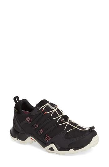 Adidas Originals Terrex Swift R Gtx Hiking Shoe In Black/ Black/ Tactile Pink