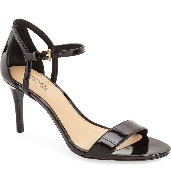 Michael Michael Kors Simone Ankle Strap High-Heel Sandals In Black