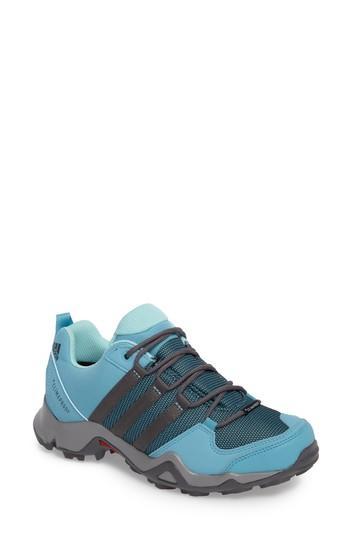 Adidas Originals 'ax2' Waterproof Hiking Shoe In Grey/ Blue/ Grey Five