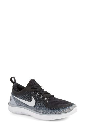 Nike Free Run Distance 2 Running Shoe In Black/ White/ Cool Grey/ Grey