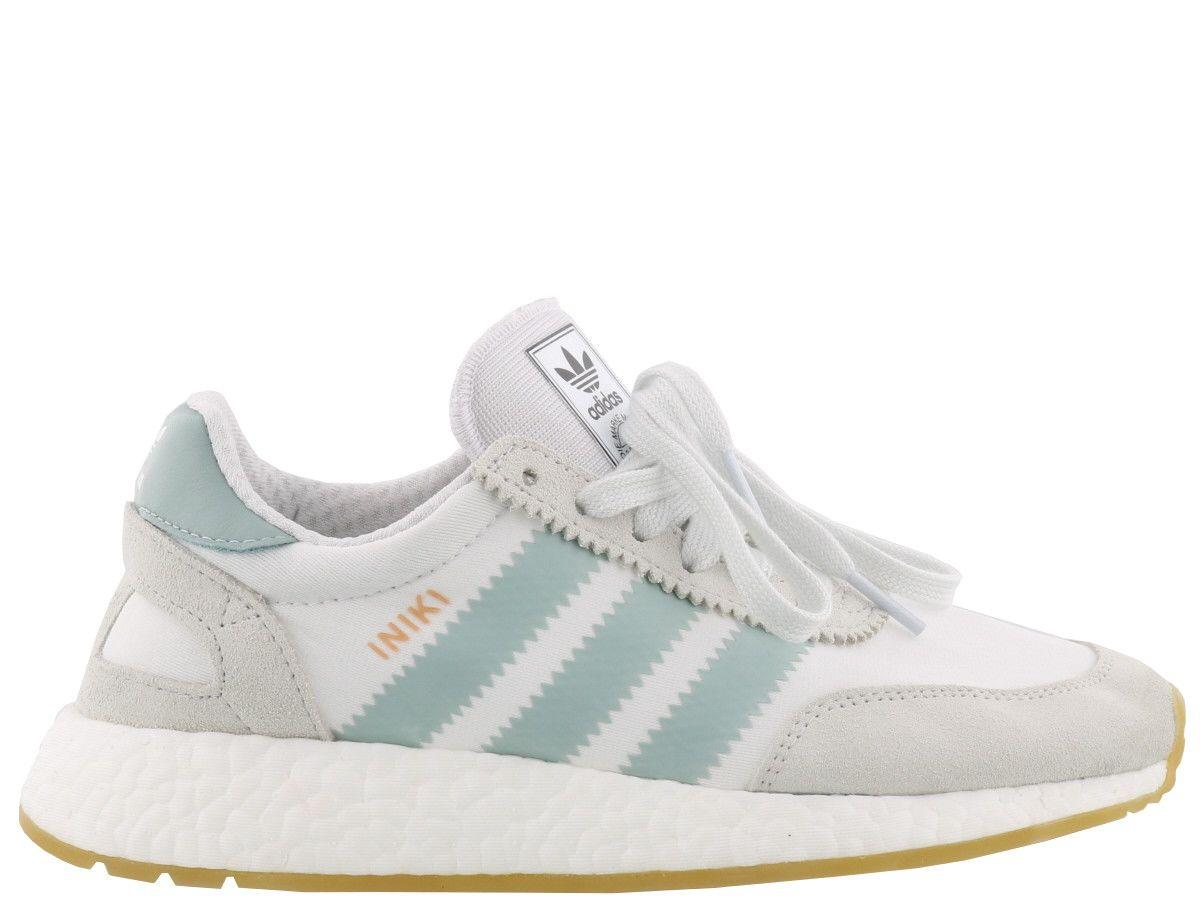 the latest e9f8f cf6b8 Adidas Originals Iniki Runner Sneaker In White  Tactile Green  Gum