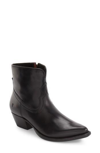 Frye 'shane' Western Bootie In Black Leather