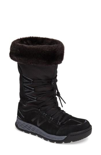New Balance Q416 1000 Faux Fur Waterproof Platform Boot In Black
