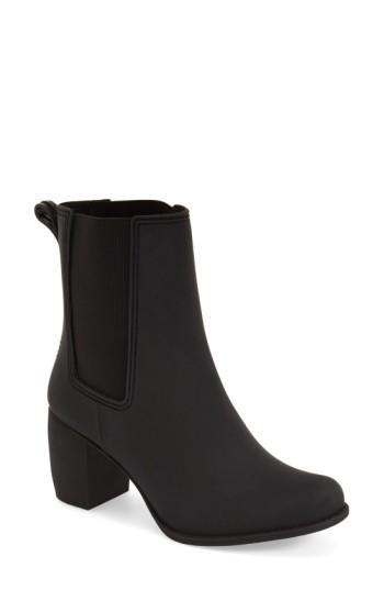 Jeffrey Campbell Clima Chelsea Rain Boot In Black Matte