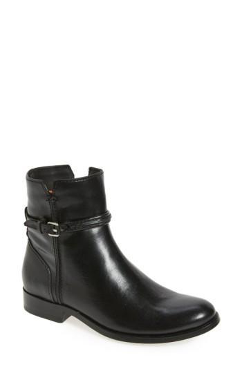Frye Melissa Bootie In Black Leather