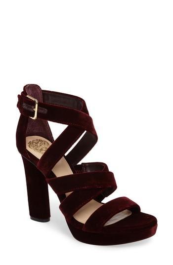 Vince Camuto Catyna Platform Sandal In Wine Suede