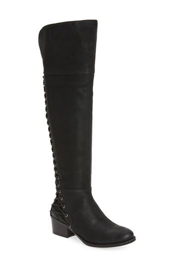Vince Camuto Bolina Over The Knee Boot In Black Wide Calf