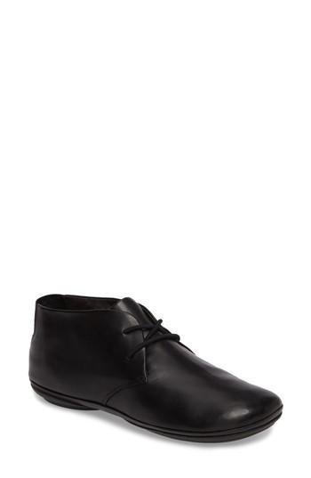 Camper Right Nina Desert Shoe In Black Leather