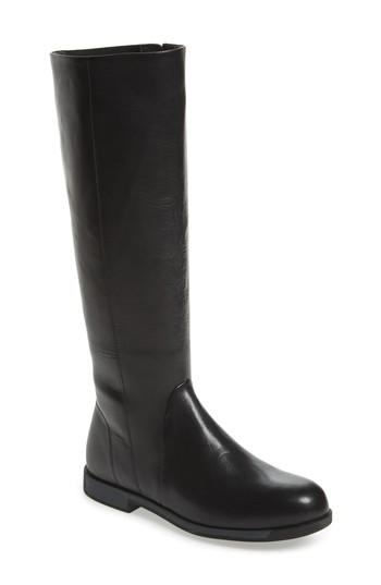 Camper Bowie Knee High Boot In Black Leather
