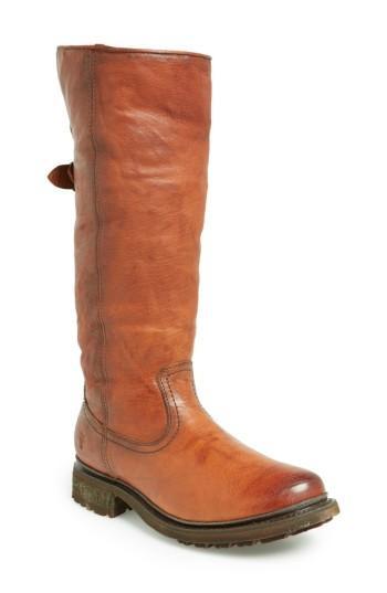 Frye 'valerie' Pull On Shearling Boot In Cognac