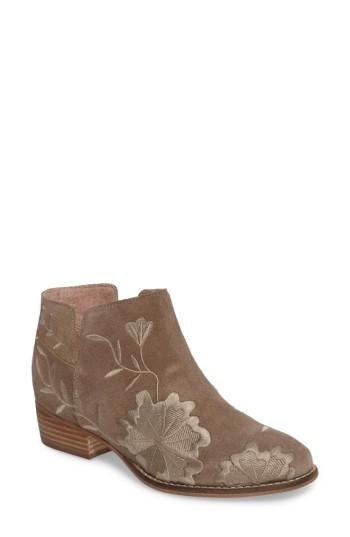 Seychelles Lantern Embroidered Short Bootie In Taupe